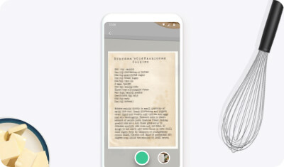 Recipe scanner - example of scanned recipe
