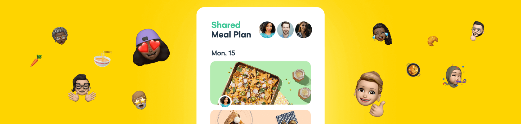 Introducing Shared Meal Plans & more