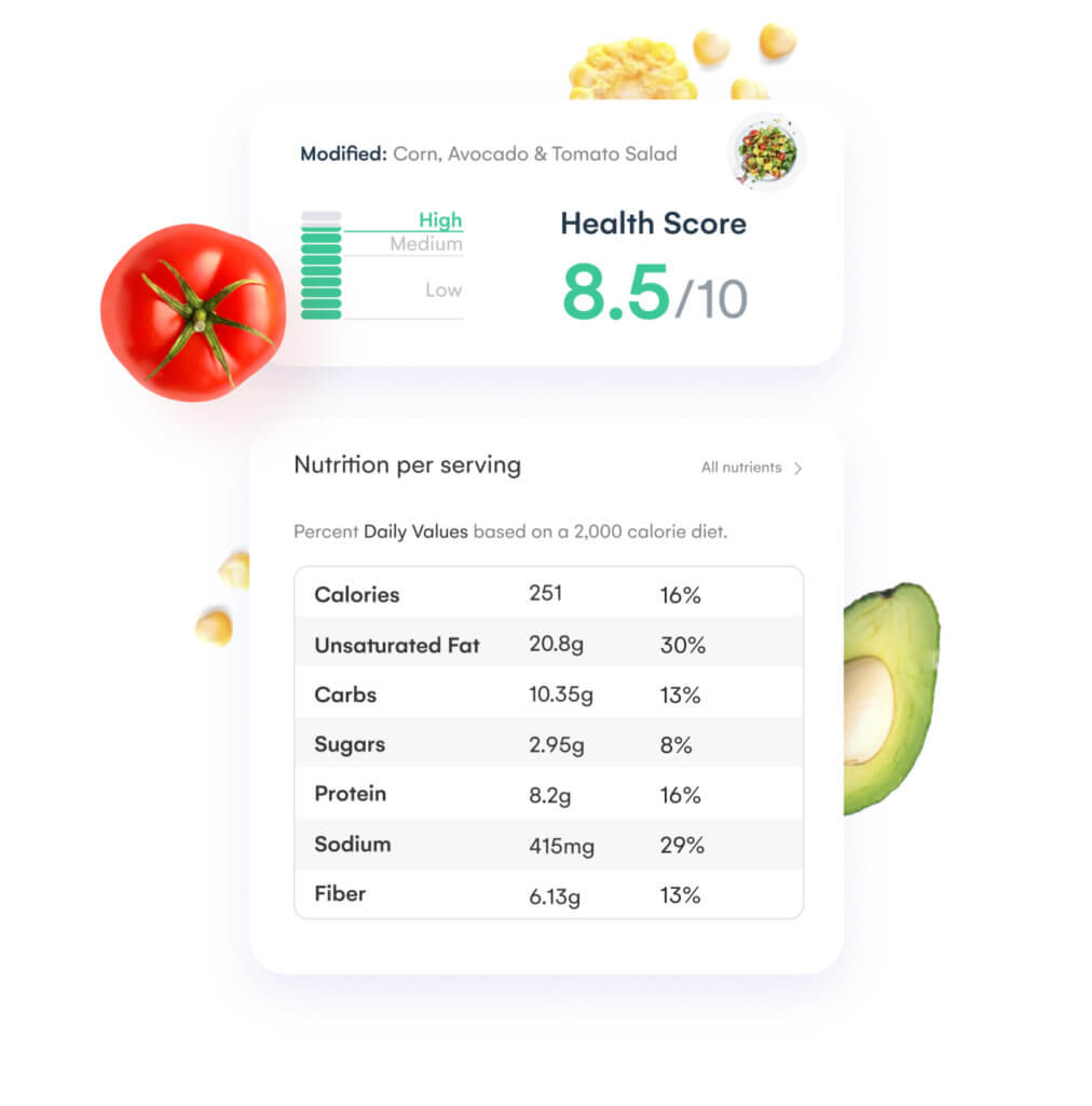 Reliable nutritional data from sources you trust