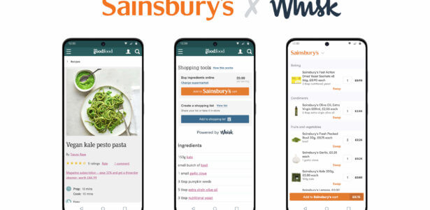 Whisk Adds Sainsbury's to Partner Ecosystem