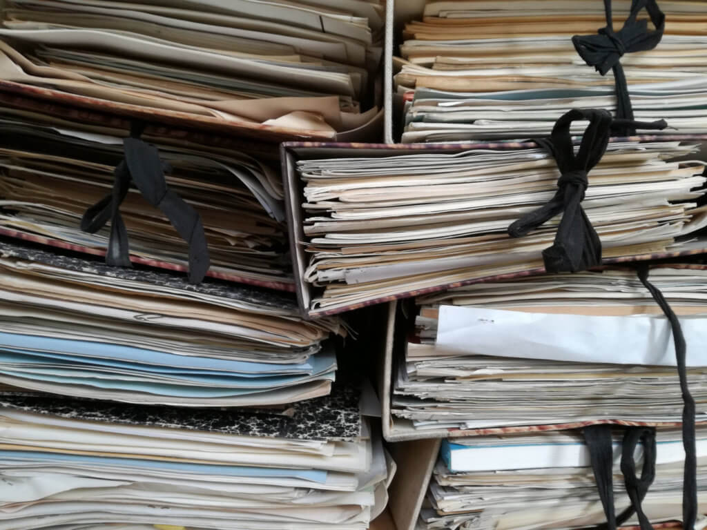 Image of cluttered documents