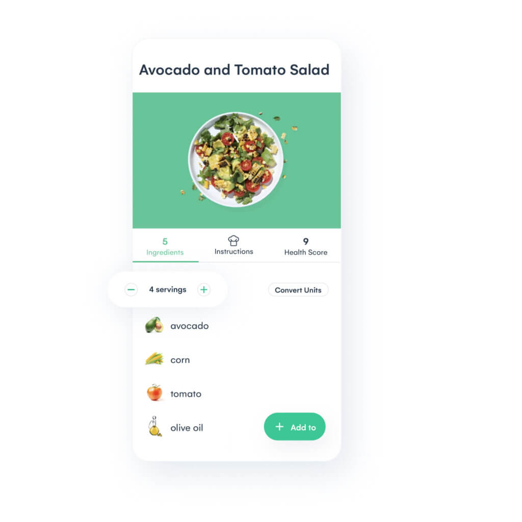 Adjust recipes to fit your family's needs